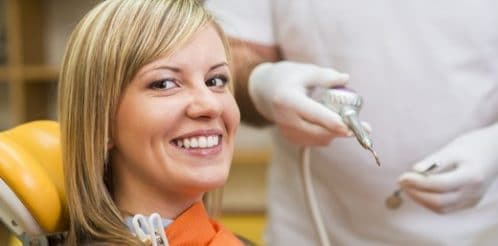 Woman at the dentis